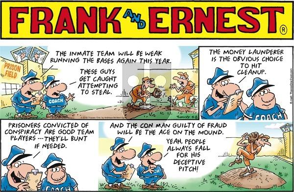 Frank and Ernest on Sunday April 8, 2018 Comic Strip