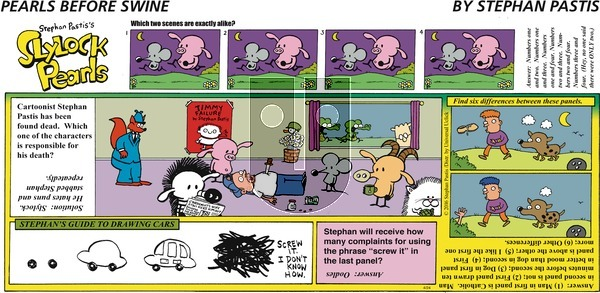 Pearls Before Swine on Sunday April 24, 2016 Comic Strip