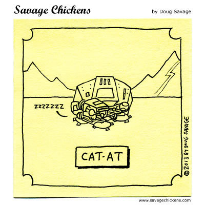 Savage Chickens Comic Strip for November 15, 2017