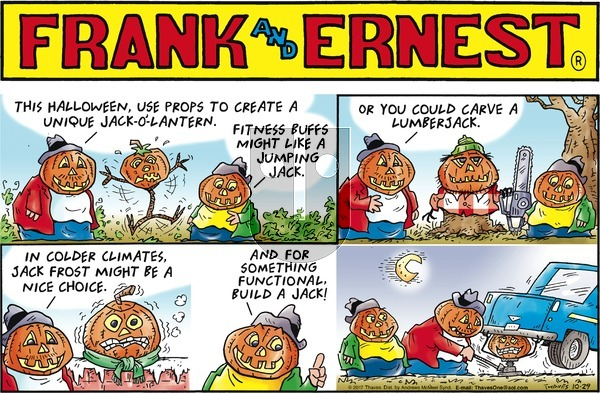 Frank and Ernest on Sunday October 29, 2017 Comic Strip