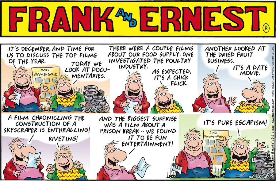 Frank and Ernest Comic Strip for December 02, 2012