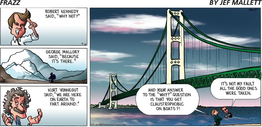 Frazz Comic Strip for September 06, 2015