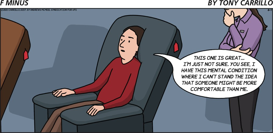 F Minus Comic Strip for August 01, 2021