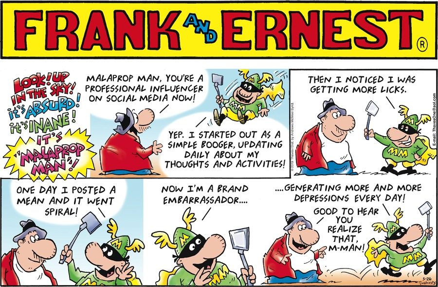 Frank and Ernest Comic Strip for May 26, 2019