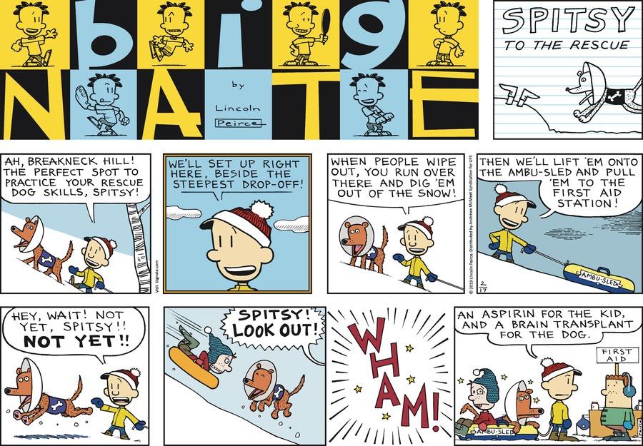 Big Nate Comic Strip for February 17, 2019