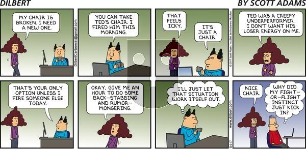 Dilbert on Sunday August 6, 2017 Comic Strip