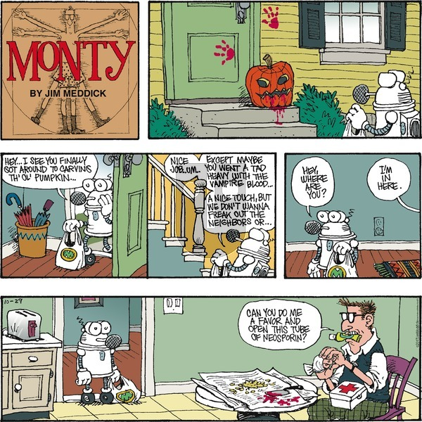 Monty on Sunday October 29, 2017 Comic Strip
