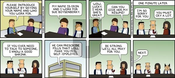 Dilbert on Sunday September 21, 2008 Comic Strip