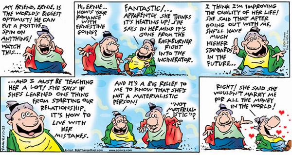 Frank and Ernest Comic Strip for October 23, 2005