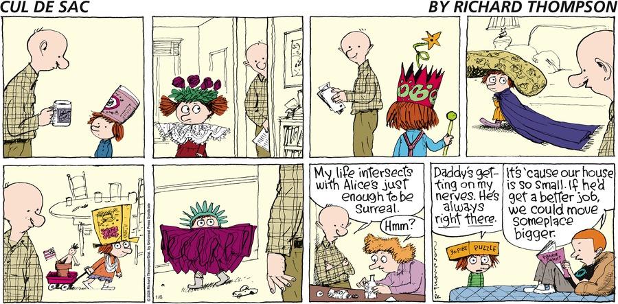 Cul de Sac for Jan 6, 2008 Comic Strip