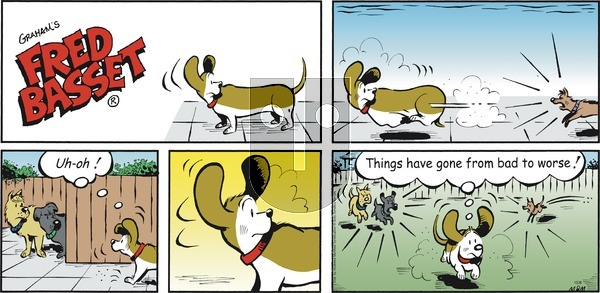 Fred Basset on Sunday December 8, 2019 Comic Strip