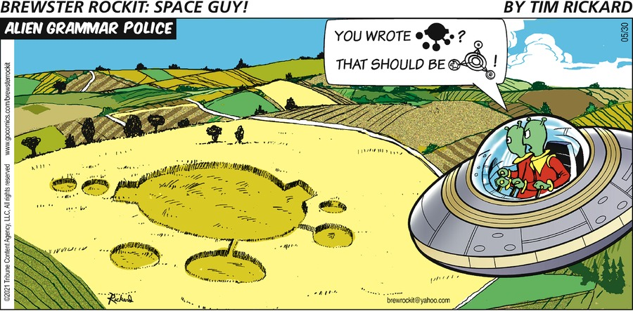 Brewster Rockit Comic Strip for May 30, 2021