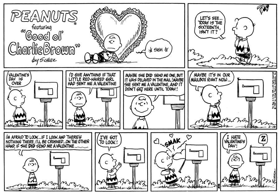 Peanuts Comic Strip for February 16, 1969