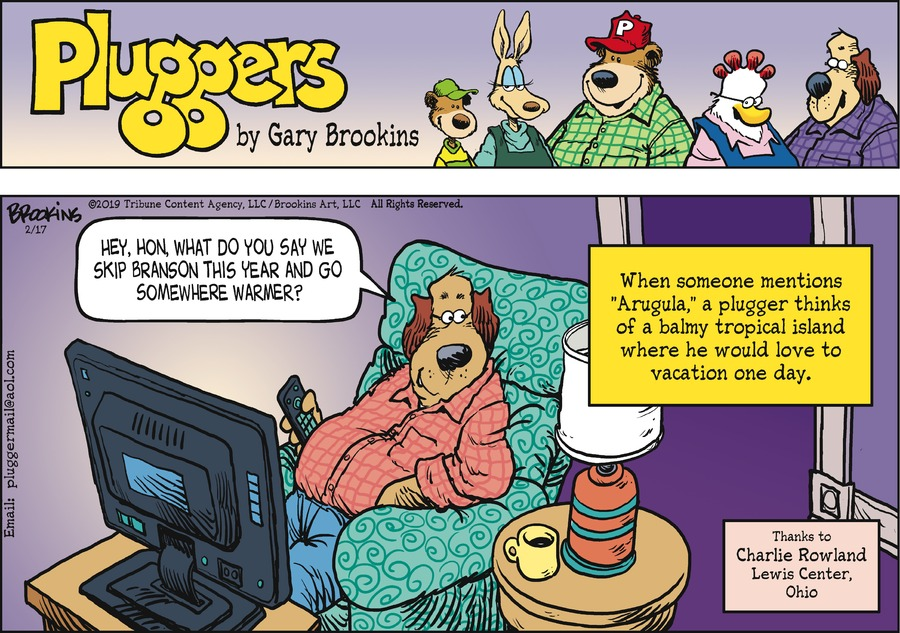 Pluggers Comic Strip for February 17, 2019