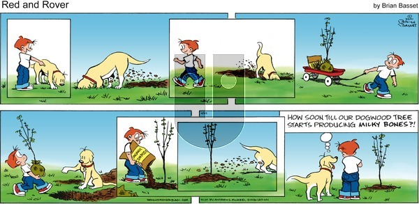 Red and Rover - Sunday April 25, 2021 Comic Strip