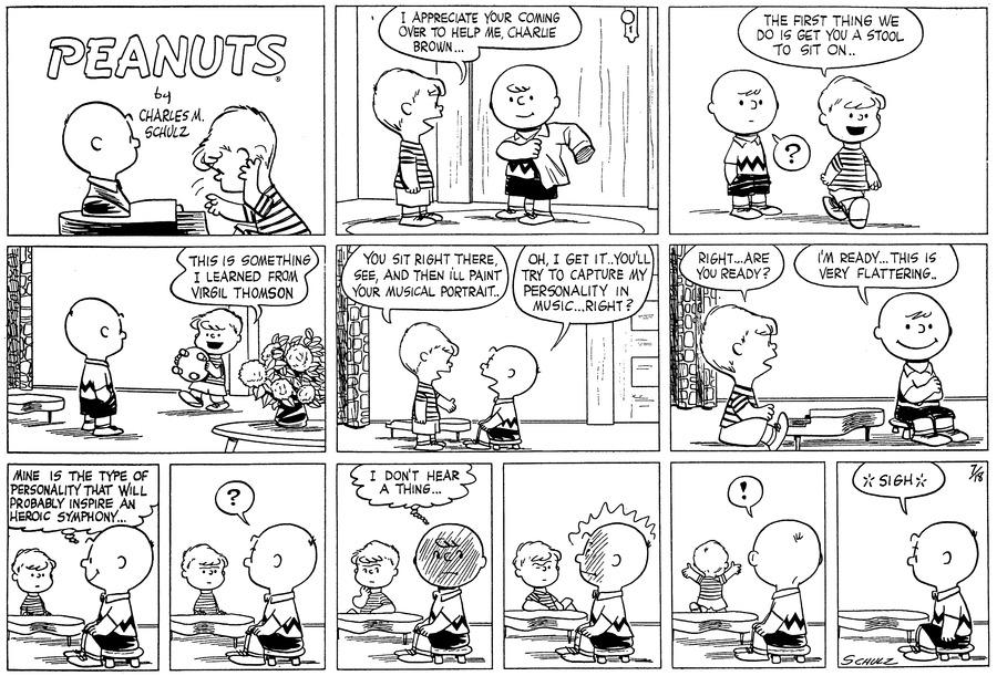 Peanuts for Jul 18, 1954 Comic Strip