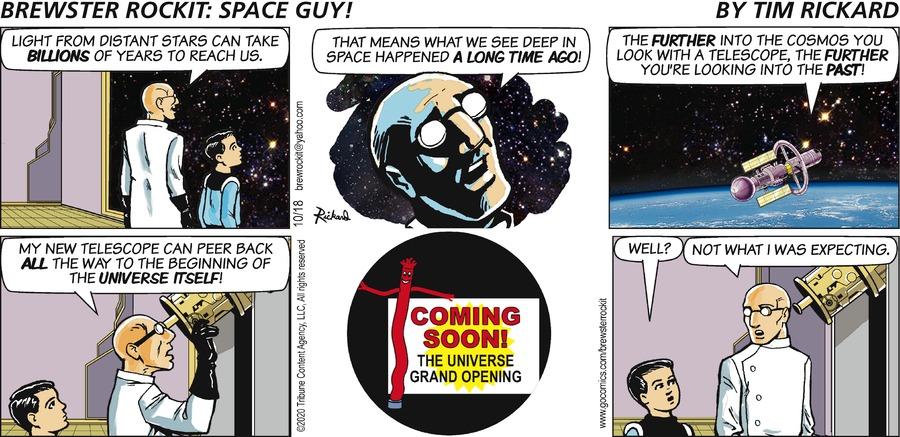Brewster Rockit Comic Strip for October 18, 2020