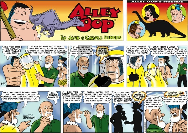 Alley Oop on Sunday August 12, 2018 Comic Strip