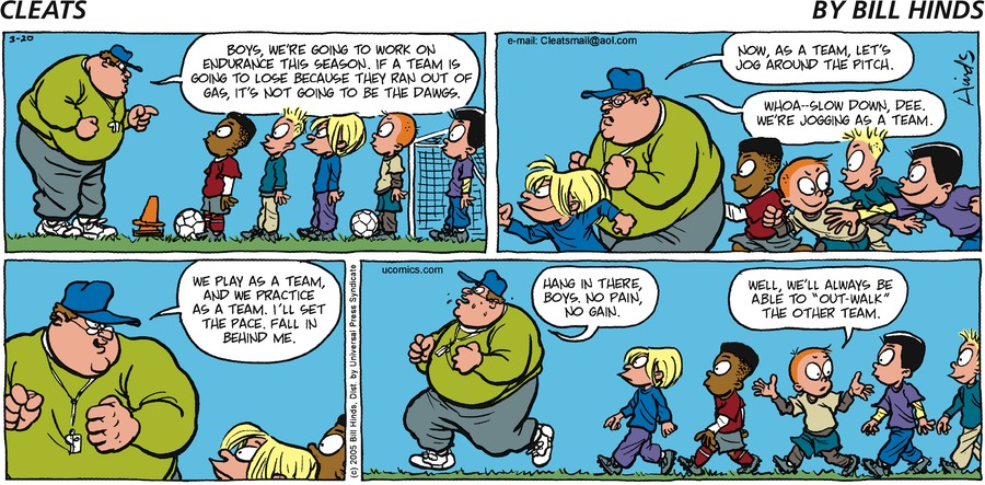 Cleats Comic Strip for March 20, 2005