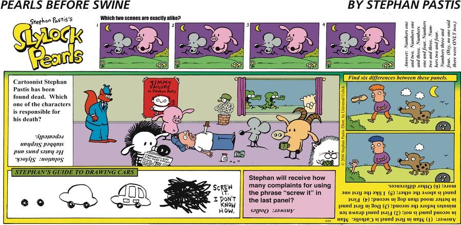Pearls Before Swine Comic Strip for April 24, 2016