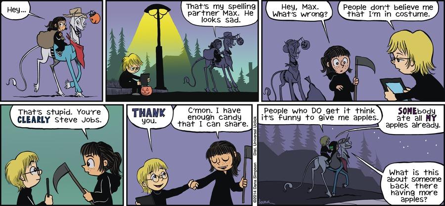 Phoebe and Her Unicorn for Nov 4, 2012 Comic Strip