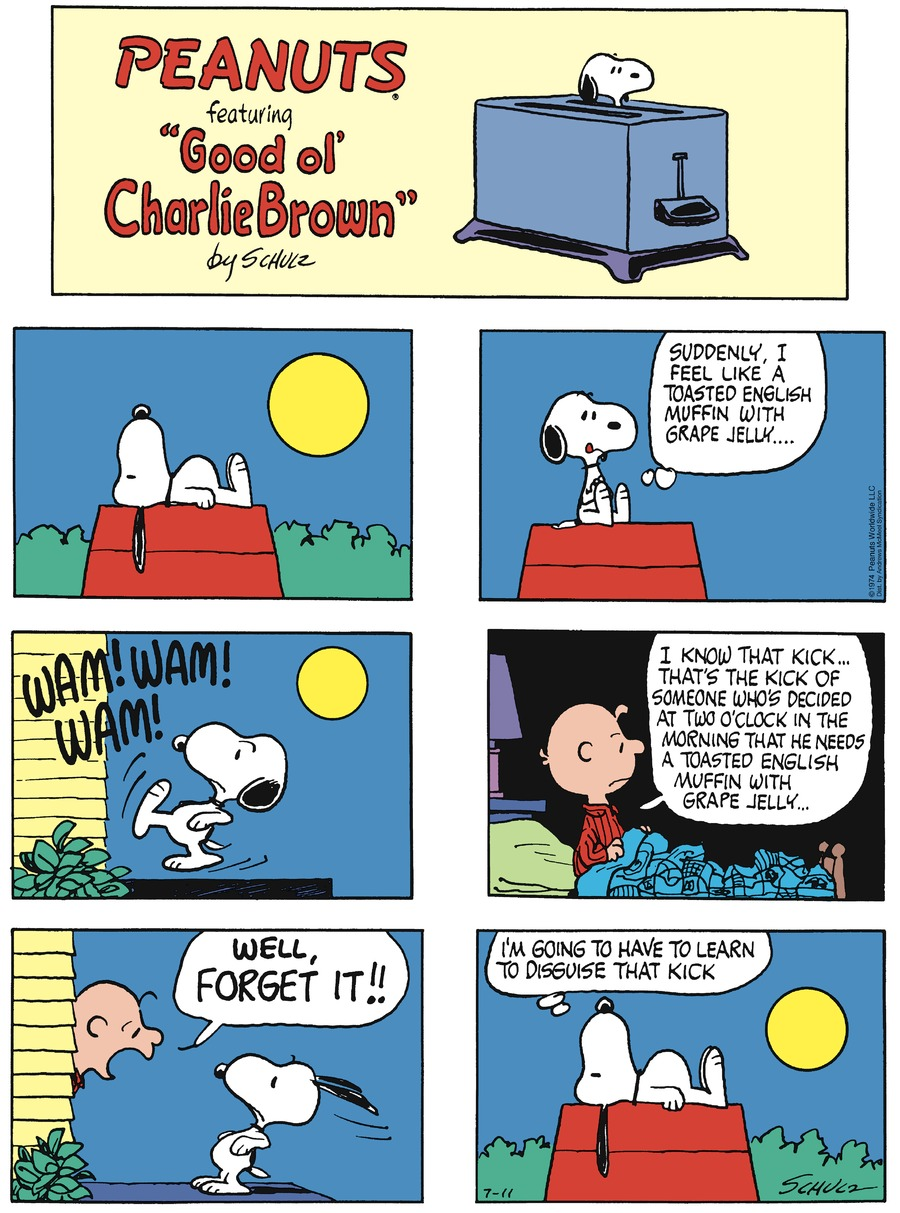Peanuts by Charles Schulz on Sun, 11 Jul 2021