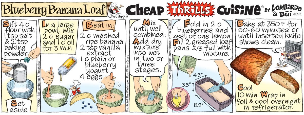 Cheap Thrills Cuisine Comic Strip for April 25, 2012