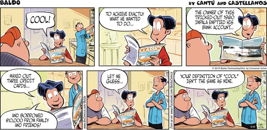 Baldo for May 19, 2013 Comic Strip