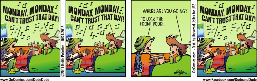 Dude and Dude for Oct 21, 2013 Comic Strip