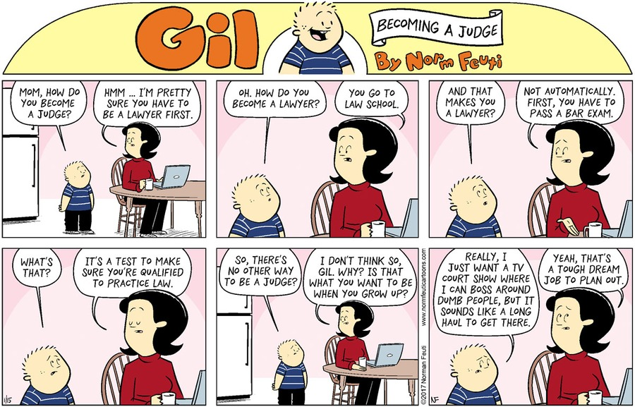 Gil Comic Strip for January 10, 2021