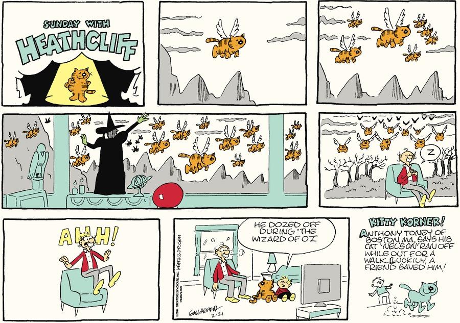 Heathcliff Comic Strip for February 21, 2021