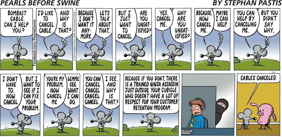 Pearls Before Swine Comic Strip for December 21, 2014