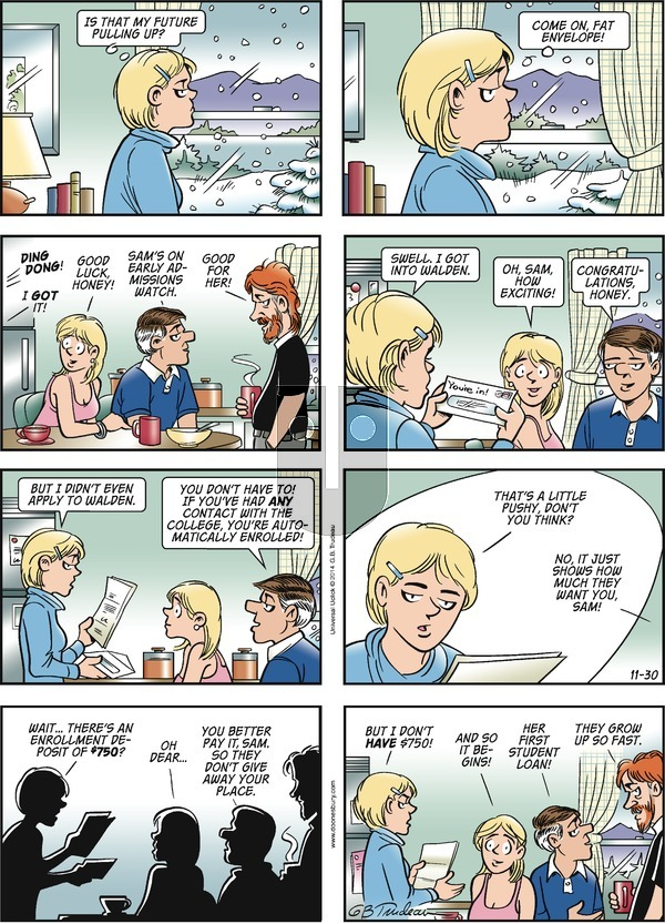 Doonesbury on Sunday November 30, 2014 Comic Strip