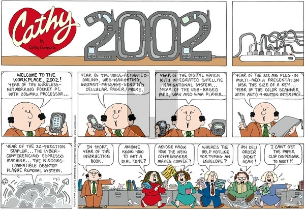 Cathy on Sunday January 6, 2002 Comic Strip