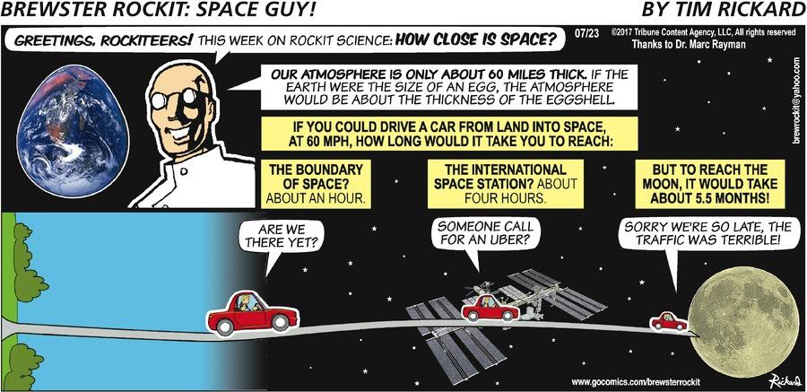Brewster Rockit Comic Strip for July 23, 2017