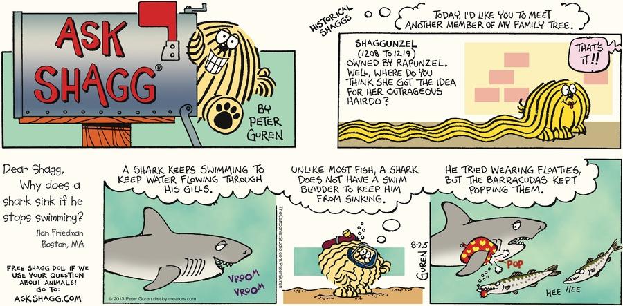 Ask Shagg for Aug 25, 2013 Comic Strip