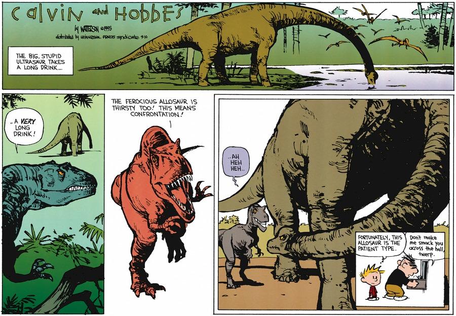 Calvin and Hobbes Comic Strip for September 10, 1995