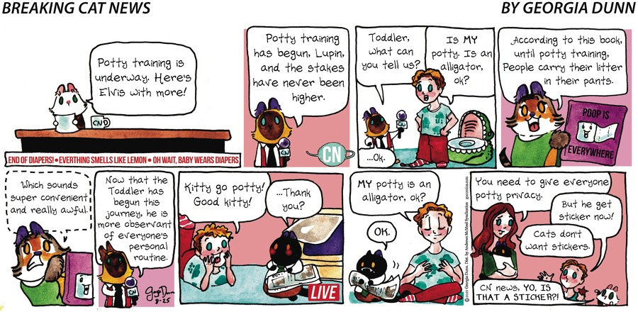 Breaking Cat News Comic Strip for August 25, 2019