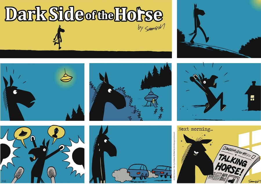 Dark Side of the Horse Comic Strip for July 12, 2020