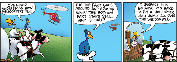 2 Cows and a Chicken for Oct 14, 2015 Comic Strip