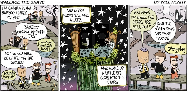 Wallace the Brave on Sunday December 6, 2020 Comic Strip