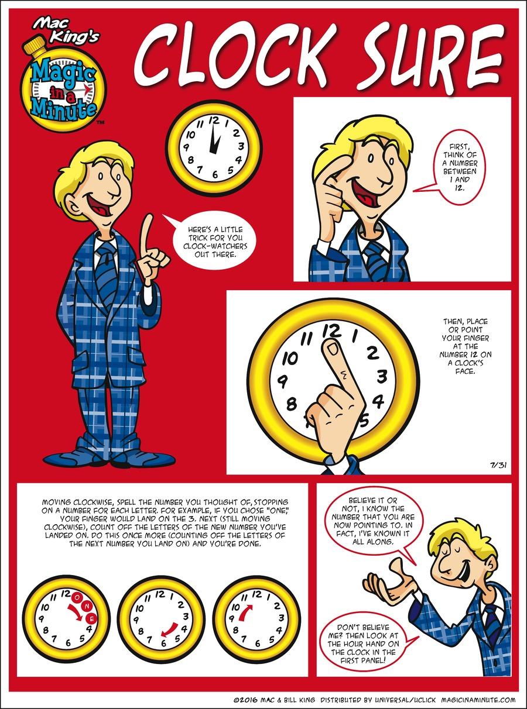 Magic in a Minute Comic Strip for July 31, 2016