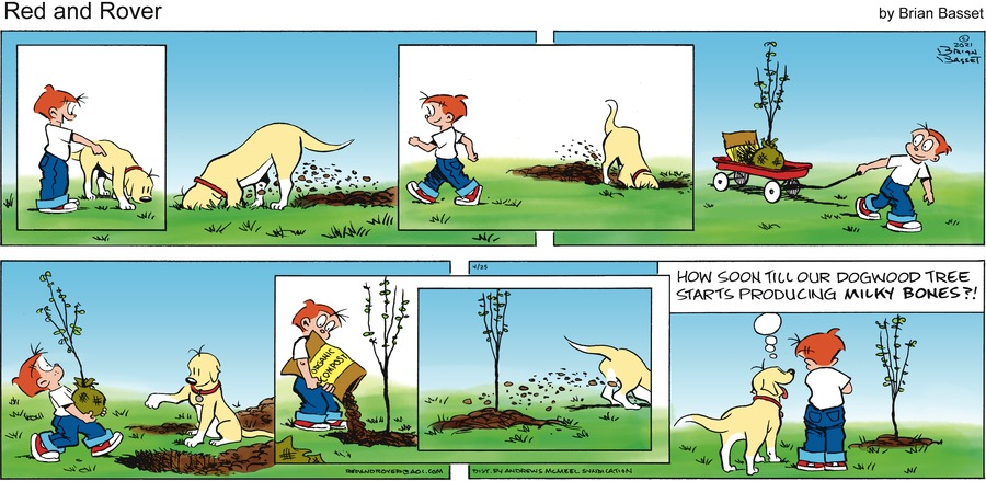 Red and Rover Comic Strip for April 25, 2021