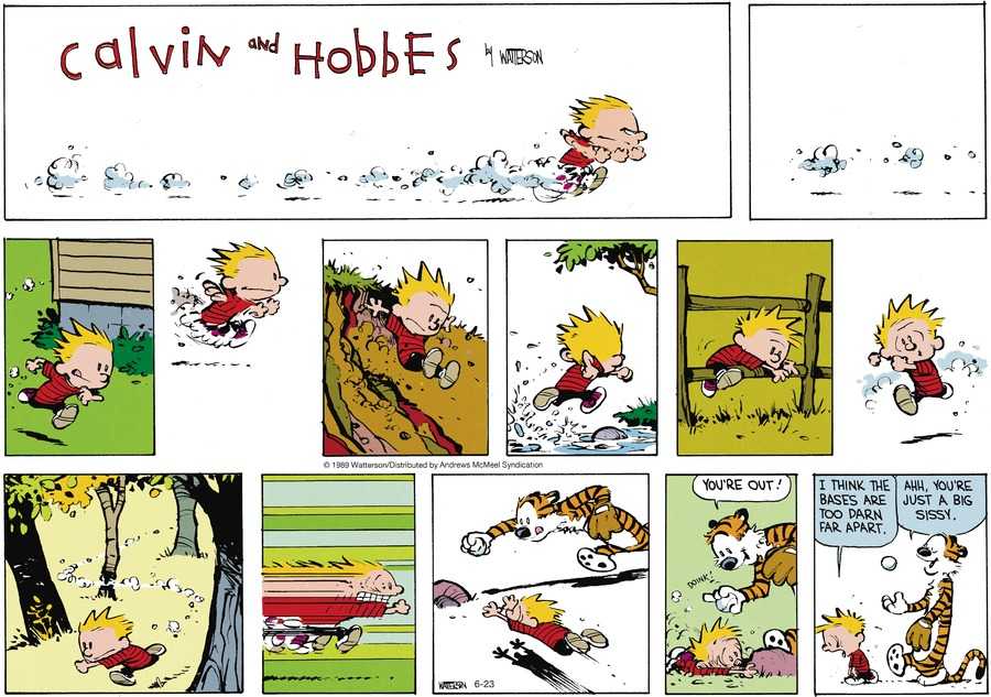 Calvin and Hobbes by Bill Watterson for June 23, 2019
