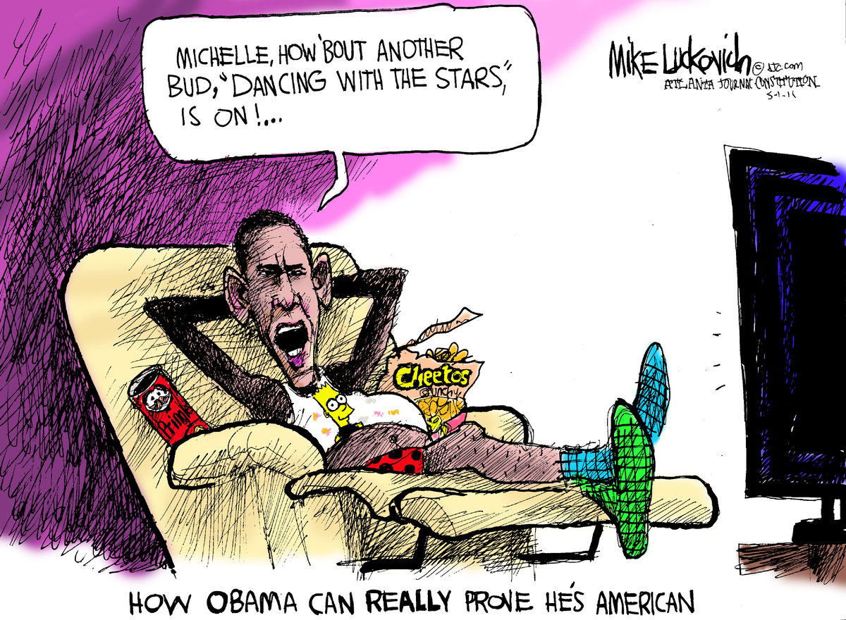 Mike Luckovich for May 1, 2011 Comic Strip