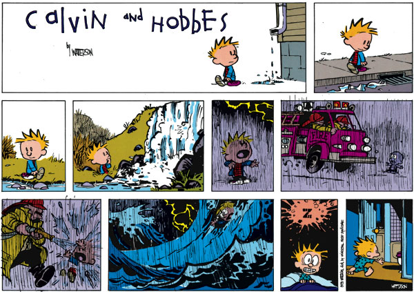 Calvin and Hobbes Comic Strip for March 13, 2011