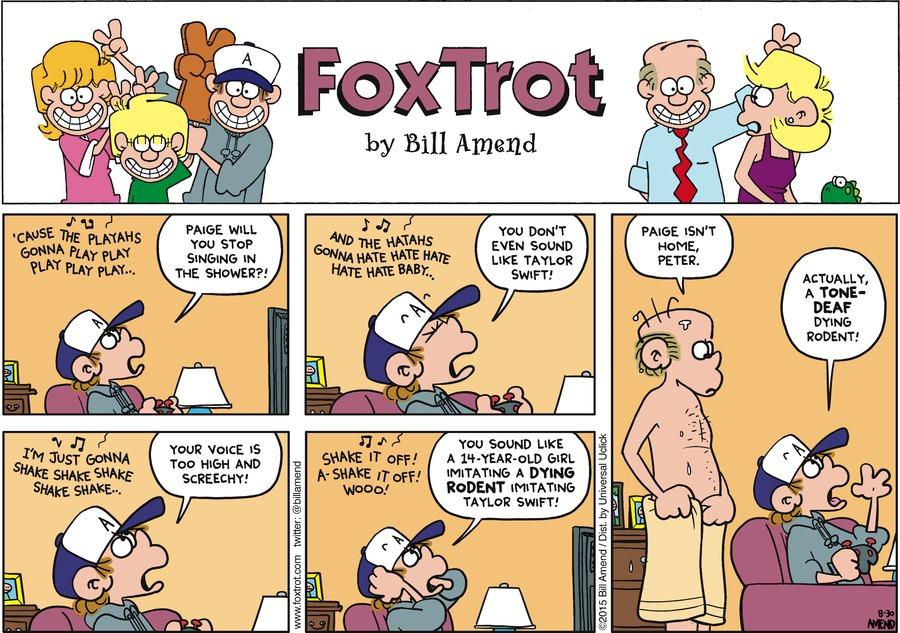 FoxTrot for Aug 30, 2015 Comic Strip