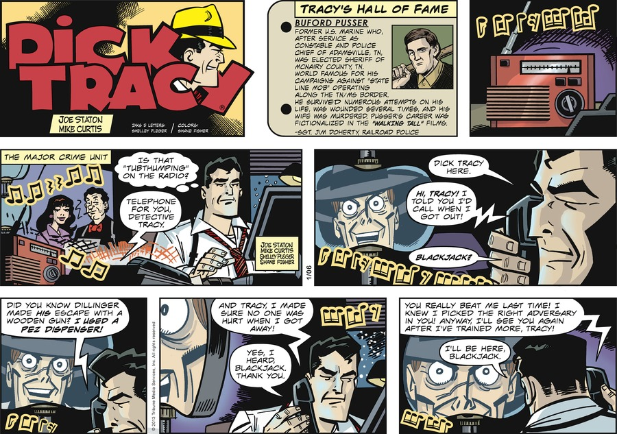 Dick Tracy Comic Strip for January 06, 2013
