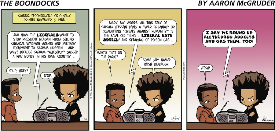 The Boondocks Comic Strip for August 01, 2004