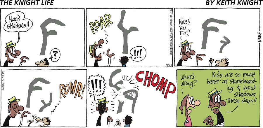 The Knight Life Comic Strip for September 29, 2013